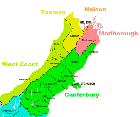Top half of South Island graphic